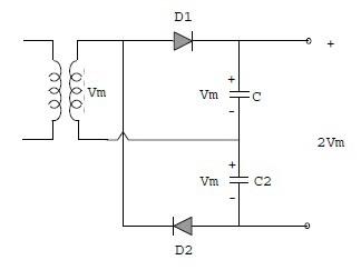 Pelipat Tegangan (Voltage Multiplier) Gelombang Penuh