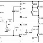 Power Amplifier OCL,teori power ocl,pengertian power ocl,rangkaian power ocl,contoh power amplifier ocl,power output capasitor less
