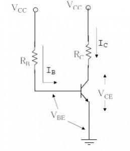 analisa dc fix bias,analisa dc bias tetap transistor,rangkaian dc bias transistor,ekuivaen dc bias tegangan transistor