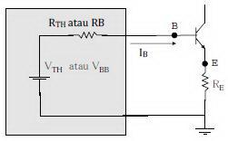 Rangkaian Ekuivalen Thevenin Self Bias Transistor,rangkaian thevenin self bias,rangkaian thevenin bias pembagi tegangan,analisa dc thevenin self bias transistor