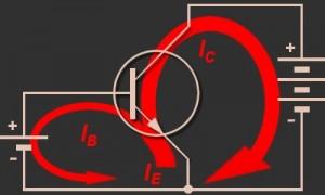 Aliran Arus Dalam Pengoperasion Transistor NPN,aliran arus transistor,aliran arus pada kaki transistor,arus transistor,aliran arus internal transistor