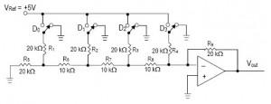 Rangkaian Dasar R2R Ladder DAC,dasar R2R Ladder DAC,teori R2R Ladder DAC,definisi R2R Ladder DAC,rumus R2R Ladder DAC,rangkaian R2R Ladder DAC