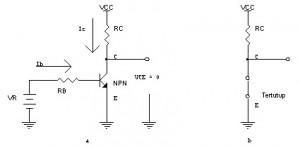 Transistor Sebagai Saklar Kondisi Saturasi,transistor ON,transistor saturasi,transistor jenuh,rangkaian saklar transistor,saklar transistor,saklar ON transistor,arus saklar transistor,rumus saklar transistor,rumus transistor sebagai saklar