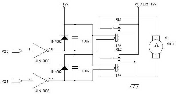 Interface Motor DC Dengan Relay