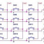 Matrix Keypad 4x4 Untuk Mikrokontroler