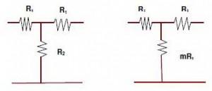 Rangkaian Attenuator Tipe T,skema attenuator tipe t,attenuator tipe t,membuat attenuator tipe t,attenuator simetris tipe t,rumus attenuator tipe t
