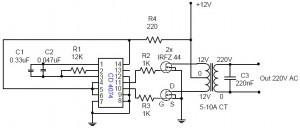 Rangkaian Converter DC Ke AC IC 4047,teori converter,pengertian converter,converter tegangan,converter dc ke ac,converter dc to ac,converter dc 12V to AC220V,rangkaian converter tegangan,rangkaian converter DC to AC,rangkaian converter DC 12V to AC 220V,skema converter tegangan,skema converter DC ke AC,skema DC 12V to AC 220V converter,membuat converter DC ke AC,merakit converter tegangan DC ke AC,mengubah tegangan DC mejadi AC,menyalakan lampu AC dengan sumber DC