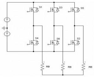 Rangkaian Daya Inverter 3 Phase Dengan Mode Konduksi 120°,Rangkaian Daya Inverter 3 Phase,Rangkaian dasar Inverter 3 Phase 120°,dasar inverter 3 phase 120°,prinsip kerja inverter 3 phase 120°,konfigurasi inverter 3 phase 120°,desain inverter 3 phase 120°,pengertian inverter 3 phase,teori inverter 3 phase 120°