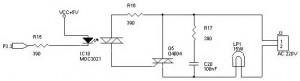 Rangkaian Interface Mikrokontroler Dengan Beban AC,interface microcontroller dengan jaringan AC,menghubungkan microcontroller ke rangkaian AC,driver/interface microcontroller dengan rangkaian AC,membuat rangkaian interface mikrokontroler dan beban AC,mikrokontroler ke jaringan AC,rangkaian untuk menghubungkan microcontroller ke beban AC,komponen untuk menghubungkan mikrokontroler dan beban AC,isolator antar microcontroller dengan beban AC,driver beban AC untuk mikrokontroler,penggerak beban AC untuk mikrokontroler