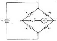 Pengukuran Tegangan Dengan Jembatan Wheatstone,bentuk jembatan wheatsone,grafik jembatan wheatsone,output jembatan wheatsone,aplikasi jembatan wheatstone,tegangan output jembatan wheatstone,nilai tegangan output jembatan wheatstone,arus pada jembatan wheatstone