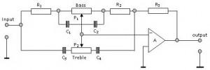 Blok Diagram Tone Control (Pengatur Nada) Baxandall,Rangkaian Tone Control (Pengatur Nada) Baxandall,Rangkaian Tone Control Baxandall