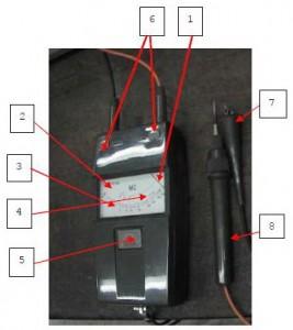Gambar Alat Ukur Tahanan Isolasi,Gambar Alat Ukur Tahanan Isolasi dengan batere,bagian Alat Ukur Tahanan Isolasi,fungsi bagian Alat Ukur Tahanan Isolasi