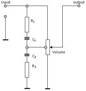 Gambar Rangkaian Pengatur Loudness,Rangkaian Pengatur Loudness,Rangkaian Loudness,Loudness control
