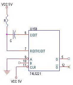 Rangkaian Dasar Monostable Multivibrator IC74LS221,Rangkaian Monostable Multivibrator IC74LS221,Monostable Multivibrator IC74LS221