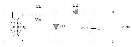 Pelipat Tegangan (Voltage Multiplier) Setengah Gelombang