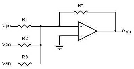 Adder / Penjumlah Dengan Op-Amp