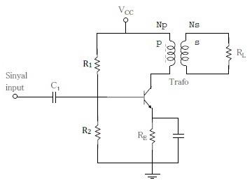 Amplifier Kelas A OT (Output Transformer)