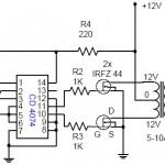 Converter DC 12V Ke AC 220V