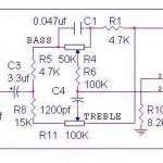 Tone Control Power OCL,rangkaian Tone Control Power OCL,skema Tone Control Power OCL,tone kontro untuk power ocl,pengatur nada power ocl,membuat tone control power ocl